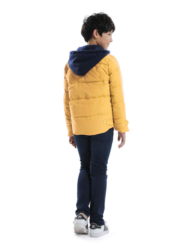 OCHENTA Boys' Hooded Winter Quilted Puffer Jacket, Parka Down Coat Yellow Tag 120-43''(4T) by OCHENTA (Image #3)