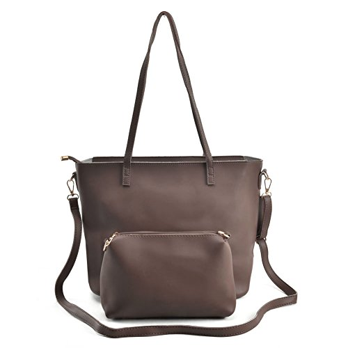 Satchel 2 Ladies Dark Sally Bags Handle Purple Women Pu Leather For Pieces Large Capacity Young Top Fashion vk5408 xq81v