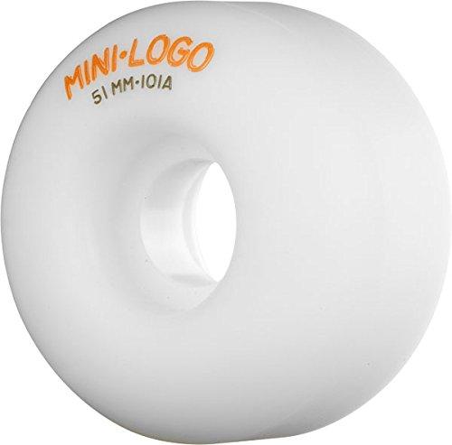 顧問分散治安判事Miniロゴc-cutホワイトスケートボードホイール – 51 mm 101 a ( Set of 4 )