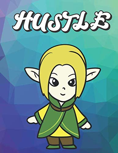 Hustle: Elvish Elf with Green and Brown Costume, Wide Ruled Lined Notebook for School Class Notes