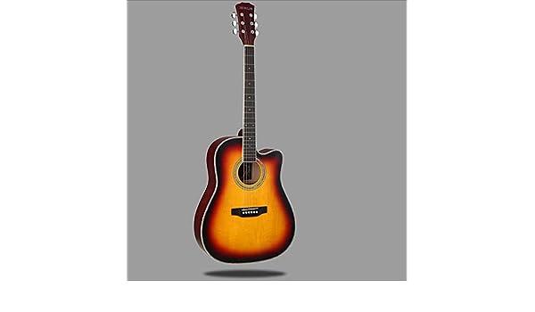 Aigliady 41 Pulgadas Principiante Estudiante Guitarra Práctica Femenina Masculina Práctica Guitarra Acústica Minimalismo Multicolor Banda sonora Hermosa Con Bolsa Con Cuerda Pulido Paño Recolección: Amazon.es: Instrumentos musicales