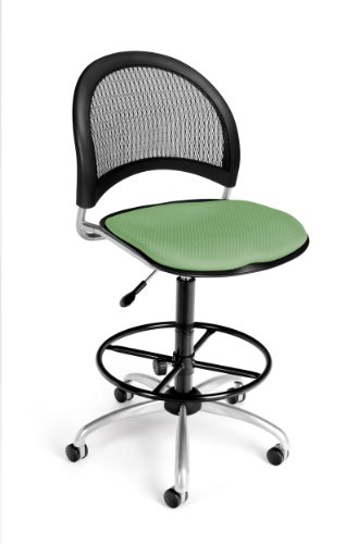OFM 336-DK-2207 Moon Swivel Chair with Drafting Kit, Sage Green