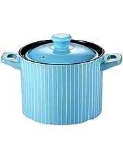 XXDTG Ceramic Casserole with Lid Clay Pot Large Capacity High Temperature Resistant Saucepan Earthen Pot Soup Pot