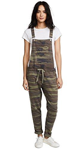 (Z Supply Women's The Camo Overalls, Camo Green, Medium)