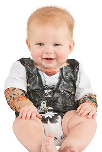 Biker Tattoo Romper Infant Costume -