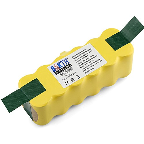 BAKTH 14.4V 3000mAh NI-MH Battery for iRobot Roomba 500 510 520 530 532 535 540 545 550 552 555 560 562 570 580 581 582 585 595 600 610 620 630 631 650 660 700 760 770 780 790 800 870 880 R3]()
