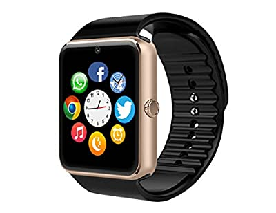 Smart Watch,Luluking SW8 Sweatproof Smart Watch Phone for Android Samsung S5 S6 S7 Note 4 5; HTC Sony LG Google Pixel /Pixel XL Smartphones Silver ...