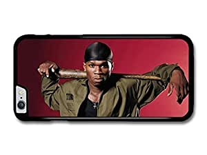 "AMAF ? Accessories 50 Cent Gangster with Baseball Bat Red Background case for iPhone 6 Plus (5.5"") by runtopwell"