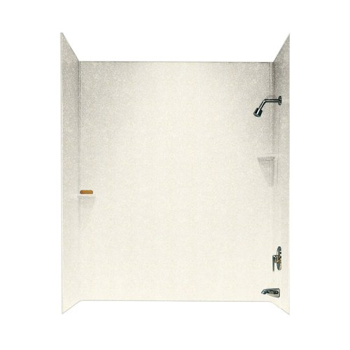 Swan SS00723.168 30-in L x 60-in W x 72-in H Solid Surface Bathtub Wall Kit, Baby's (Swanstone Shower Enclosures)