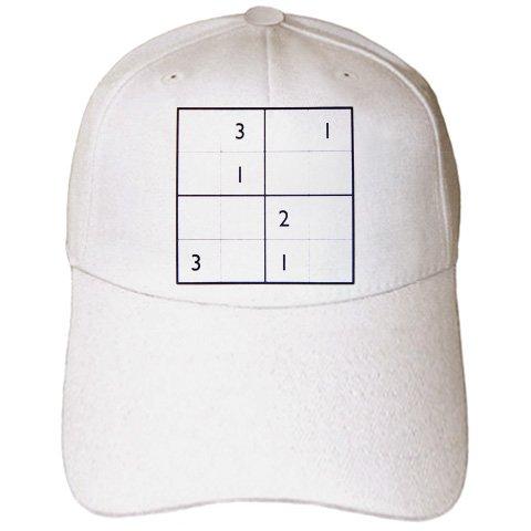Sudoku Iron - Florene Games - Sudoku - Caps - Adult Baseball Cap (cap_18690_1)
