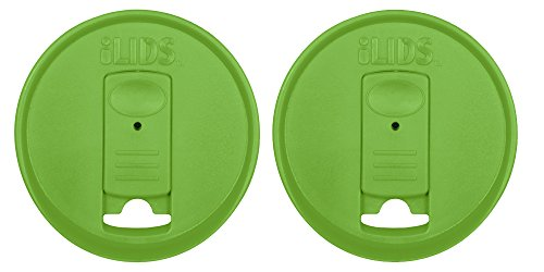 ILIDS Mason Regular Mouth Jar Drink Lid (2 Pack), Grass Green