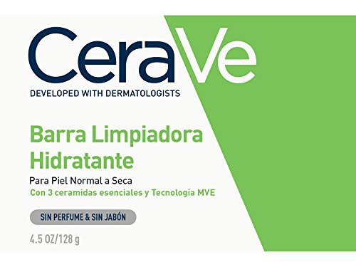 CeraVe Hydrating Cleansing Bar 4.5 oz Non-Soap Alternative for Daily Body and Facial Washing, Dry to Normal Skin