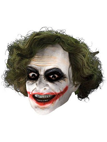 Rubie's Men's Batman The Dark Knight The Joker Adult 3/4 Mask with Hair, Multi, One Size -