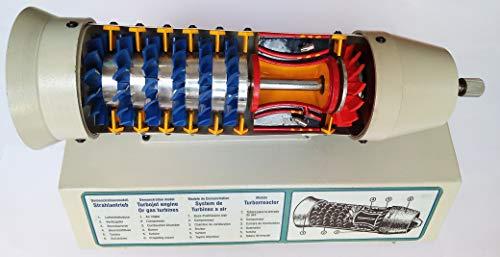 Turbojet Engine Model Gas Turbine Rotary Engine Cut Section
