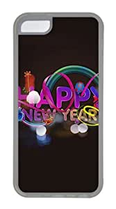 Customized Case New years TPU Transparent for Apple iPhone 5C
