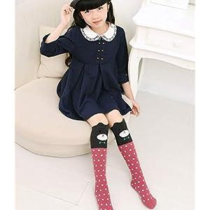 LUOUSE Girls Knee-High Sock Cartoon Animal Cotton Knit Stockings
