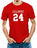 Universal Apparel Men's Stilinski Teen Wolf T-Shirt XL Red