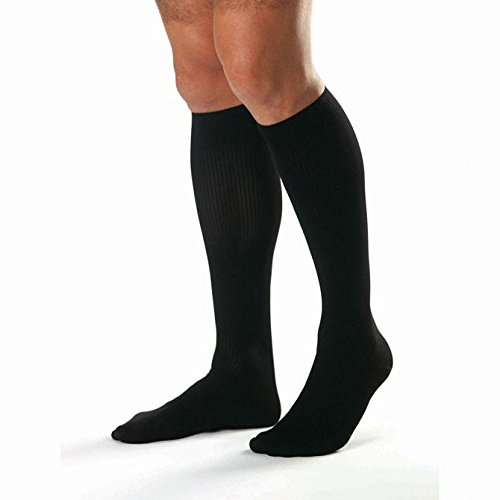 BSN Medical 115374 Jobst for Men Compression Hose, Knee High, 30-40 mmHG, Open Toe, Full Calf, Black