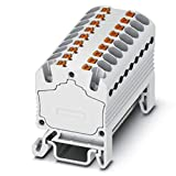 Distribution Block; Internally jumpered; 18 Connections; 500V; 17.5A; Push in Conn, Pack of 20