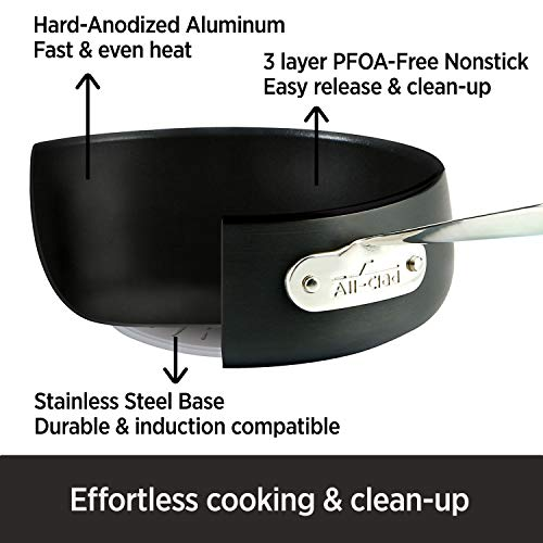 All-Clad HA1 Hard Anodized Nonstick Frying Pan with Lid, 12 12