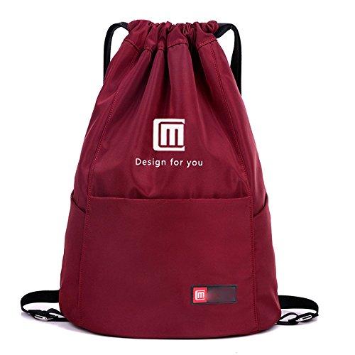 MYLL Hombres Y Mujeres Sports Fitness Backpack Sencillo Bolso De Viaje Al Aire Libre,WaterproofTreasureBlueNoPocket Jujube