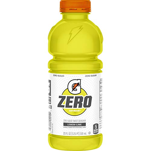 - Gatorade Zero Sugar Thirst Quencher, Lemon-Lime, 20 Ounce Bottles (Pack of 12)