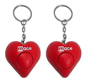 2 unidades Mace marca Personal alarma corazón (rojo): Amazon ...