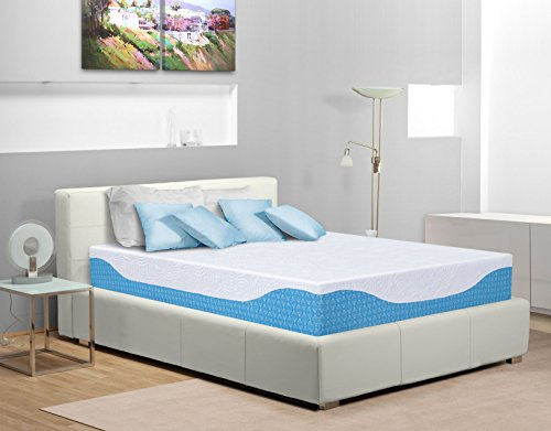 PrimaSleep 12 Inch Multi-Layered I-Gel Infused Memory Foam ()