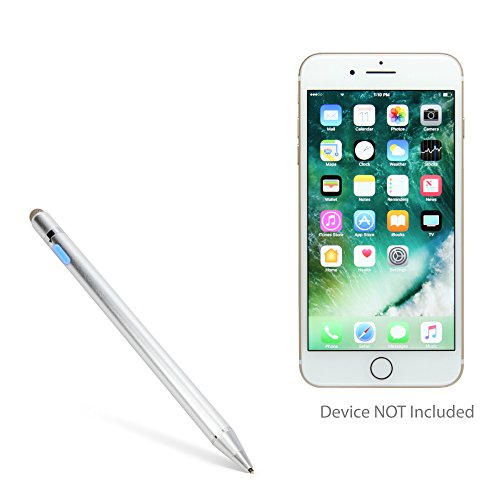 Apple iPhone 7 Plus Stylus Pen, BoxWave [AccuPoint Active Stylus] Electronic Stylus with Ultra Fine Tip for Apple iPhone 7 Plus - Metallic Silver