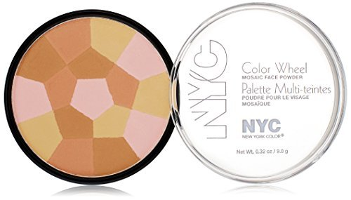 NYC New York Color Color Wheel Mosaic Face Powder 726 bronzed pink by NYC