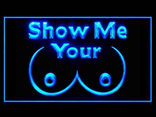 (C B Signs Show Me Your Tits Man Cave LED Sign Neon Light Sign Display )