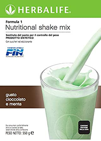 Herbalife batido formula 1 chocolate y menta