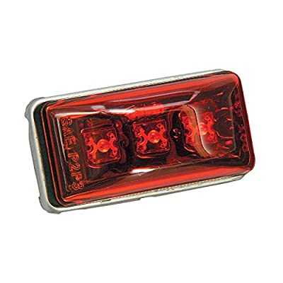 Wesbar 401566 Waterproof LED Clearance Light, Red: Automotive