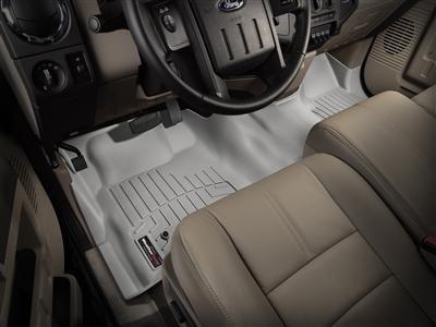 2012-2016 Dodge Ram 1500/2500/3500 Truck Grey WeatherTech Front Floor Liner [Regular Cab; Driver and Passenger-Side Floor Hooks; Over the Hump]