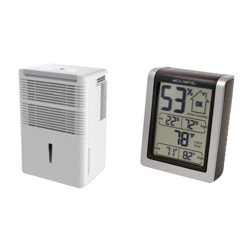 Keystone Energy Star 70 Pt. Dehumidifier, KSTAD70B and AcuRite 00613 Indoor Humidity Monitor Bundle by Keystone
