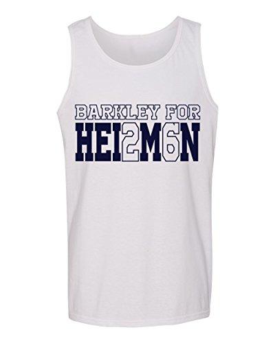 Saquon Barkley Penn State for Heisman jersey Men's Tank Top (White,M)