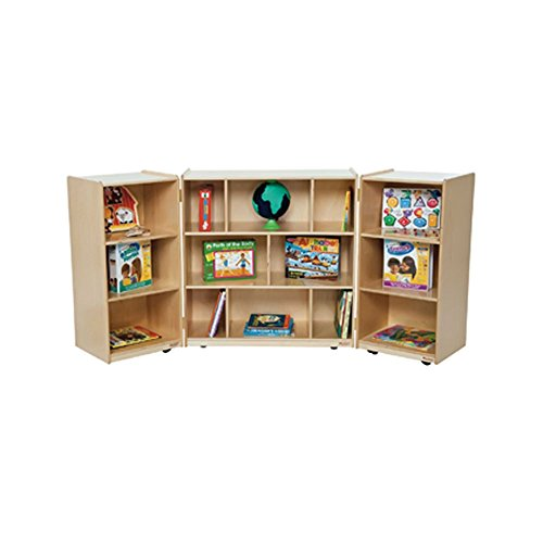 Wood Designs Kids Play Toy Book Plywood Organizer Wd156003 Section Folding Storage by Wood Designs