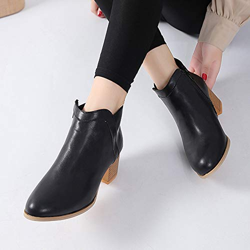 On Walking Shoes Beige Booties Yellow Pointed Heel Espadrille Boots Low IZHH Slip Toe Black Autumn Boot Winter Thick Ankle Elegant Black Heel Short zvRqROx