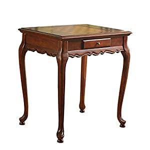 Aianna Cherry Chess Table Game Table with One Drawer