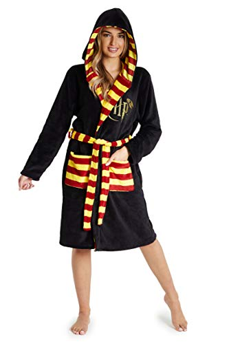 Harry Potter Dressing Gown, Adult Fleece Hooded Dressing Gowns for Women Or Men