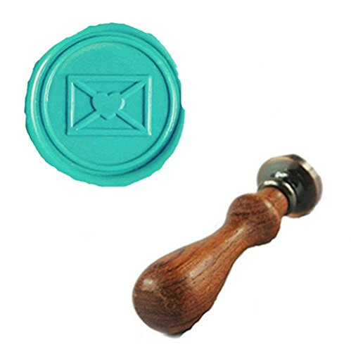 MDLG Vintage Love Heart Letter Envelope Custom Picture Logo Wedding Invitation Wax Seal Sealing Stamp Rosewood Handle Set