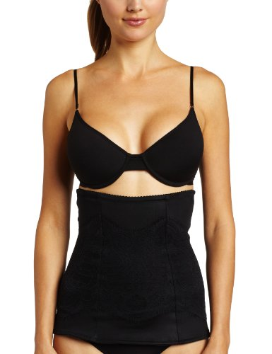 m Women's Pretty Shapewear Lace Waist Nipper, Black, Large ()