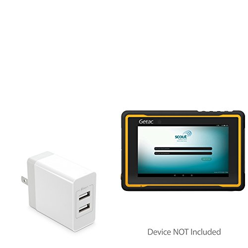 Getac ZX70 Charger, BoxWave [Dual High Current Wall Charger] 2 USB Port Rapid Wall Charger for Getac ZX70 - White by BoxWave