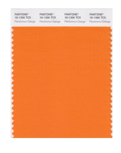 1356 Flat - PANTONE SMART 16-1356X Color Swatch Card, Persimmon Orange