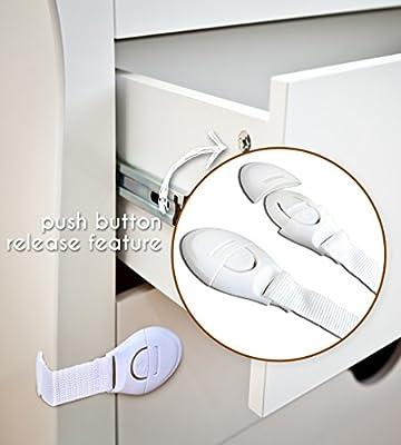 24pcs Childproofing Produkte 8 Kantenschutzecken 6 Gleitschl/össer und 10 Baby-Proofing Produkte von Boxiki Kids Set von 3 Kindersicherungsset mit
