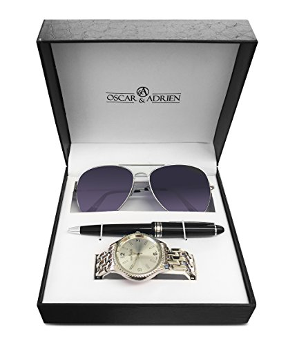 Oscar & Adrien Holiday Collection Watch Sunglasses and Pen - The Ultimate Men's Gift Set