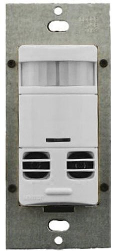 Leviton OSSMD-GFW 3 by 3, Title 24 Compliant, Ambient Light Override, Self Adjusting, Dual Relay Multi-Tech Wall Occupancy Sensor, White by Leviton