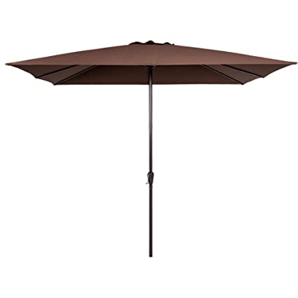 Sunnyglade 7.5/' Patio Umbrella Outdoor Table Market Umbrella With Push Button Ti