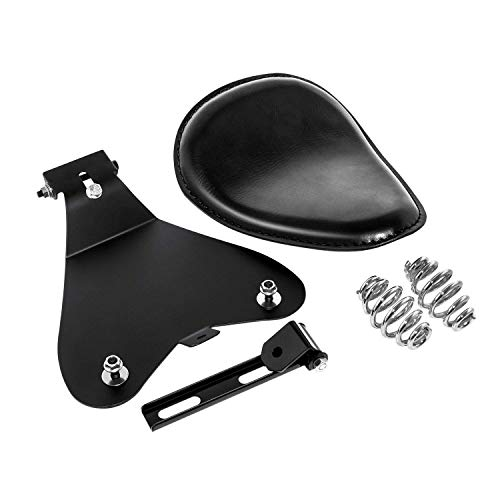 "3"" Leather Solo Seat with Spring Bracket Kit for Sportster XL 1200 883 48 Chopper Bobber Seats Custom"