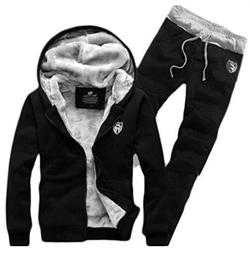 Éponge Vêtements Sweat X Pour Camo En Black large Taille couleur Homme Kangqi À Set Polaire Suit Survêtement Hommes Capuche Doublé De fqBt6Fwn